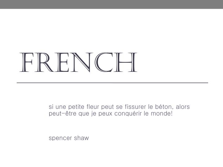 f rench n.