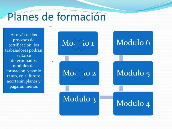 Planes de formación