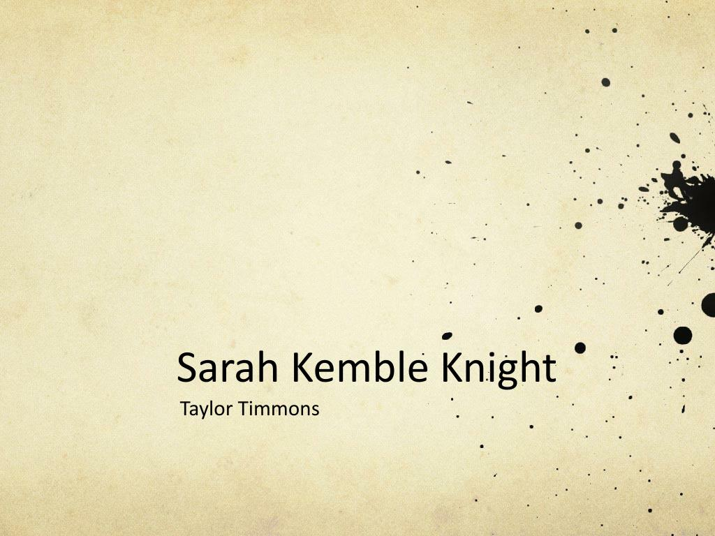 sarah kemble knight the journal of madam knight