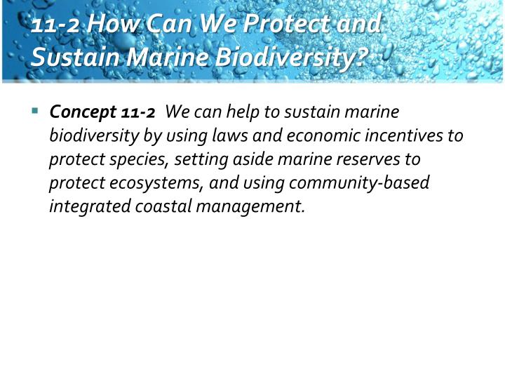 11-2 How Can We Protect and Sustain Marine Biodiversity?