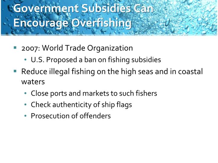 Government Subsidies Can Encourage Overfishing
