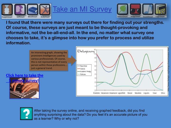 Take an MI Survey