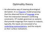 optimality theory1