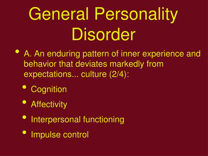 General Personality Disorder