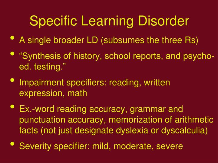 Specific Learning Disorder