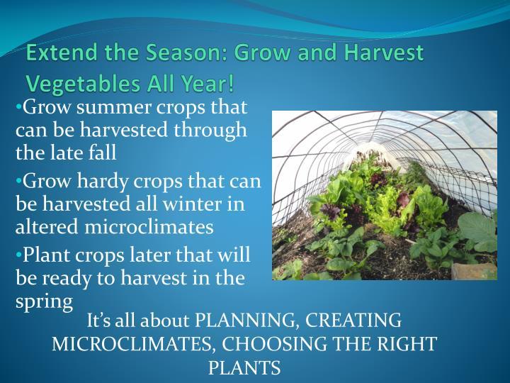 Extend the Season: Grow