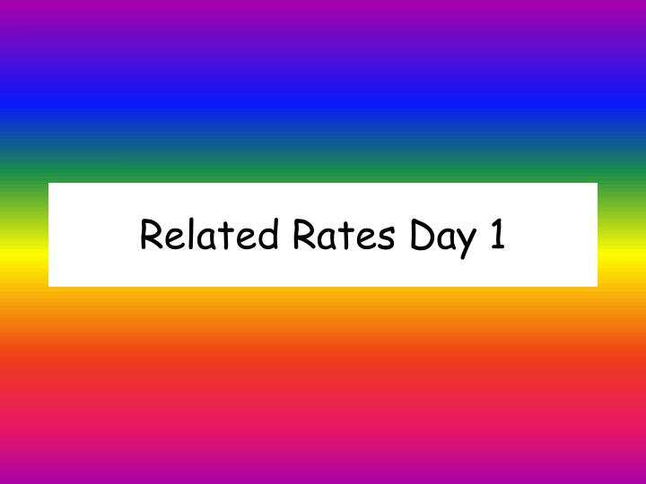 related rates day 1 n.