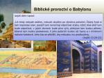 biblick proroctv o babylonu