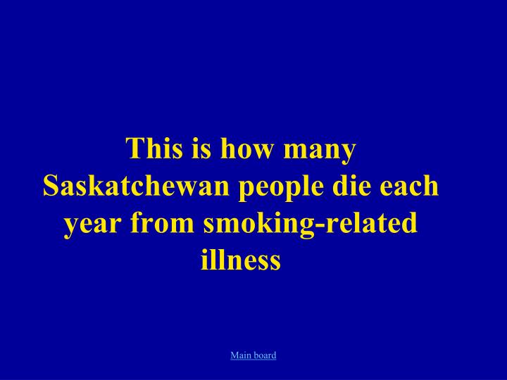 each year more americans die due to complications of smoking Tobacco use is the largest preventable cause of death and disease in the united states 4 each year, approximately 480,000 americans die from tobacco-related illnesses further, more than 16 million americans suffer from at least one disease caused by smoking 4.