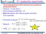 d production asymmetry