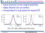 detector production asymmetries