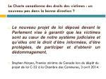 la charte canadienne des droits des victimes un nouveau pas dans la bonne direction