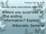 higher level discussion question23