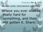 higher level discussion question25