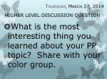 higher level discussion question3