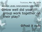 higher level discussion question30
