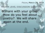 higher level discussion question4