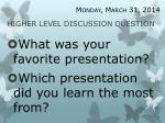 higher level discussion question5