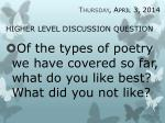 higher level discussion question8
