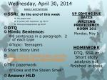wednesday april 30 2014