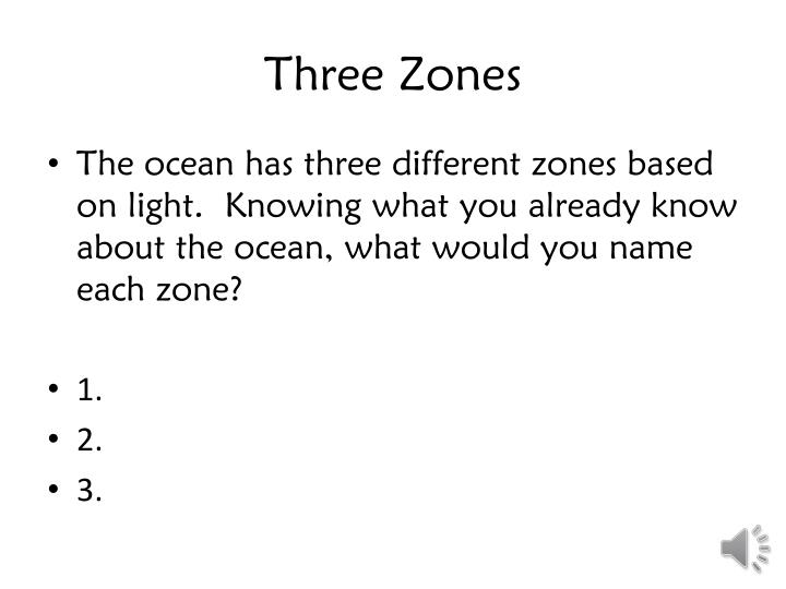 Three zones