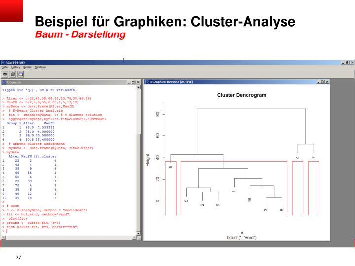 Beispiel für Graphiken: Cluster-Analyse