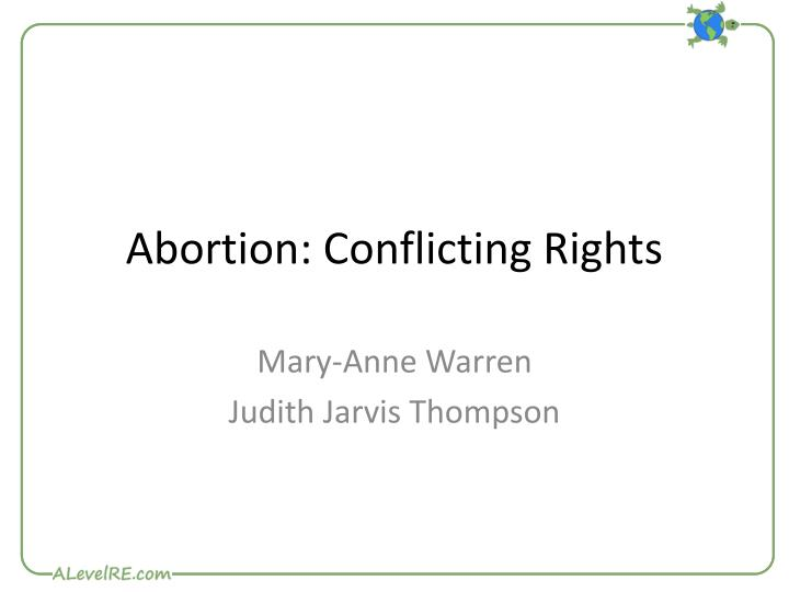a defense of abortion by judith jarvis Here boonin invokes judith jarvis thomson's famous argument in defense of abortion that appeals to an imaginary situation as an analogy in this imaginary situation, a person wakes up one morning and finds herself, without her consent, connected intravenously to a famous violinist.
