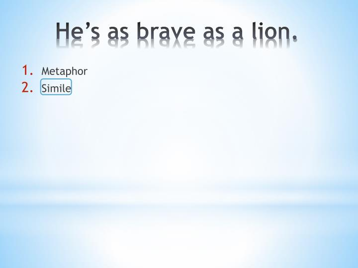 as brave as simile