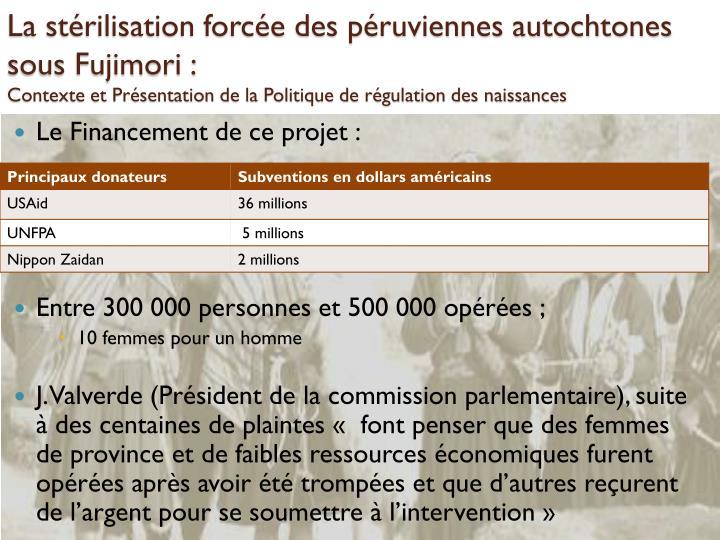 La stérilisation forcée des péruviennes autochtones sous