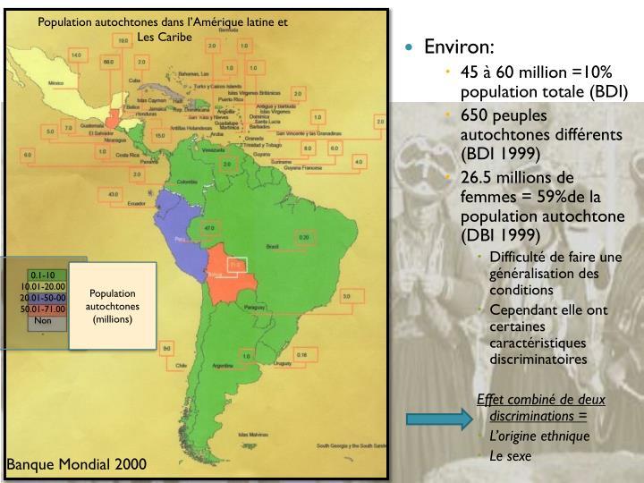 Population autochtones dans l'Amérique latine et