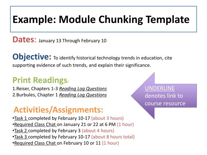 Example: Module Chunking Template