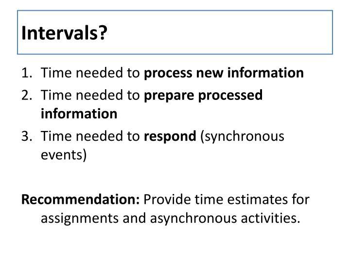 Intervals?