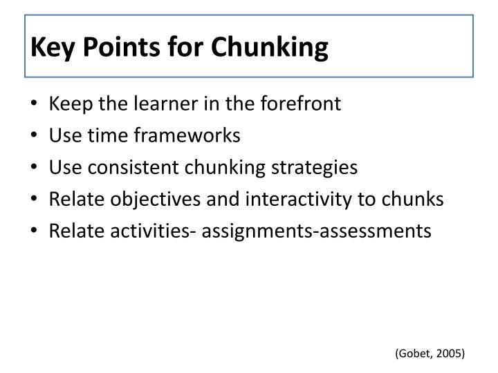 Key Points for Chunking