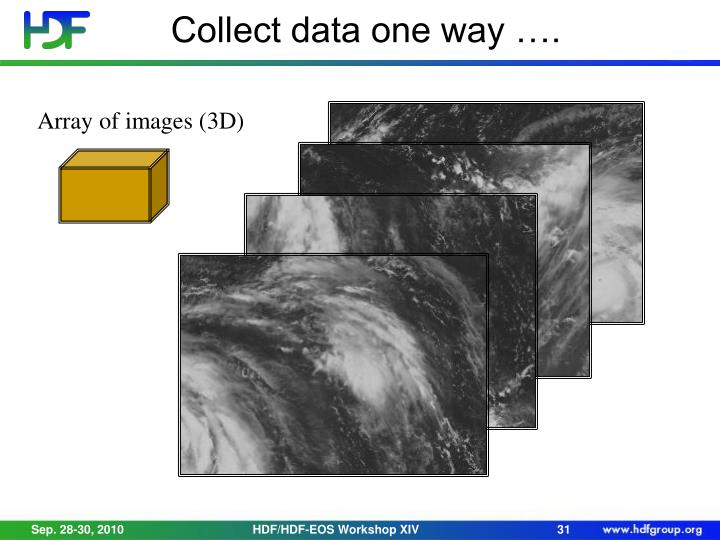 Collect data one way ….