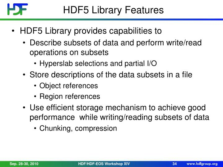 HDF5 Library Features