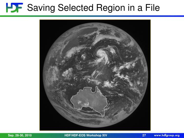 Saving Selected Region in a File