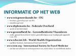 informatie op het web