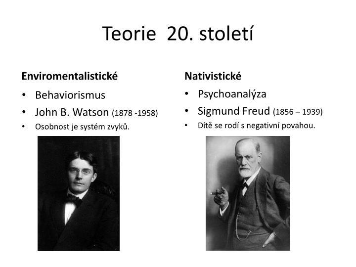 Teorie 20 stolet