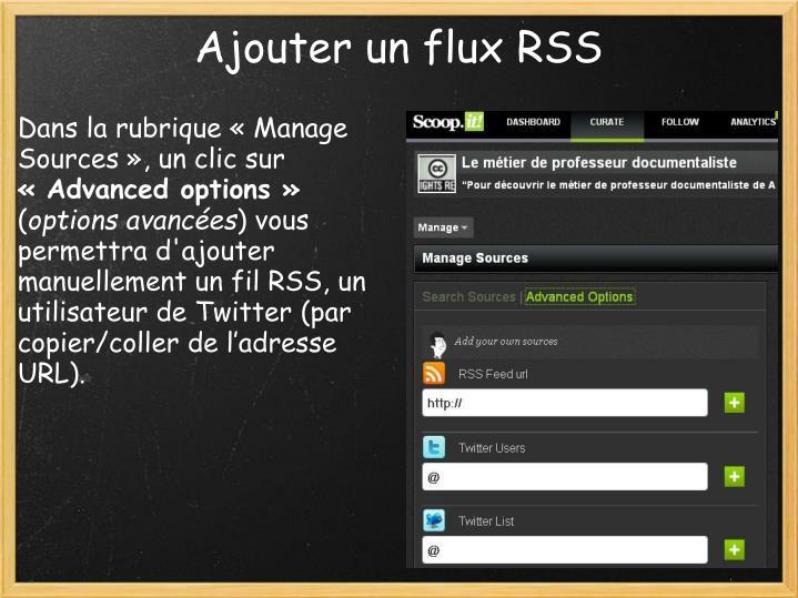 Ajouter un flux RSS