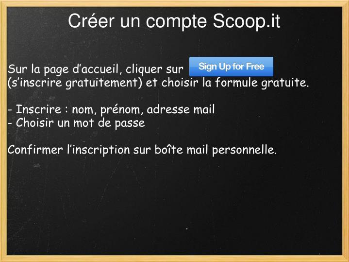 Créer un compte Scoop.it