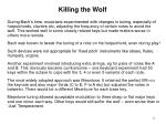 killing the wolf