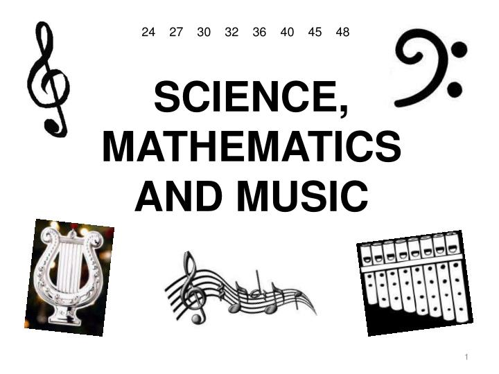 science mathematics and music n.