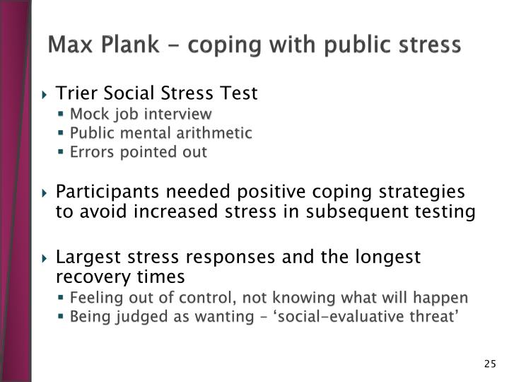 Max Plank - coping with public stress