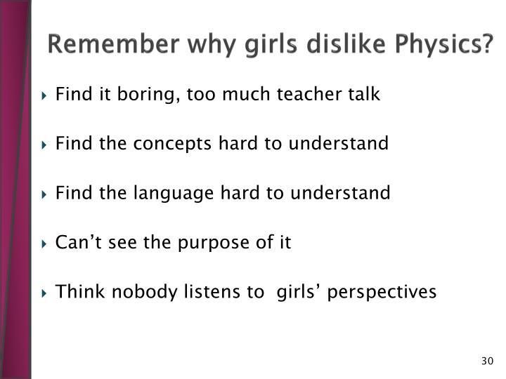 Remember why girls dislike Physics?