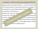 1 er document le texte de su tone divus augustus xxix et xxx