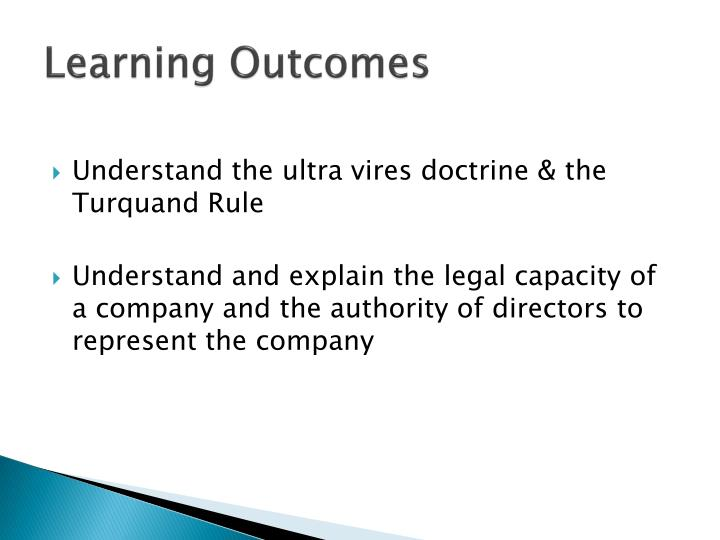 doctrine of ultra vires in company law
