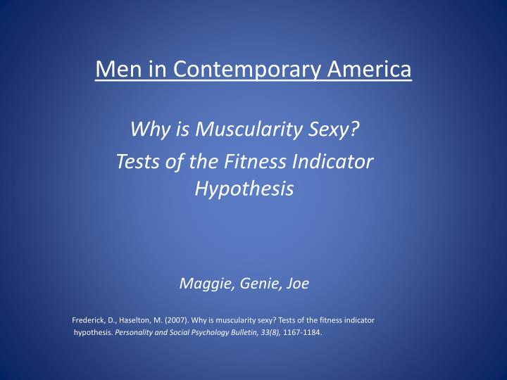men in contemporary america n.