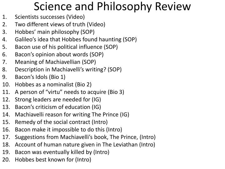 science and philosophy review n.