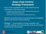 asian carp control strategy framework