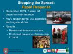 stopping the spread rapid response